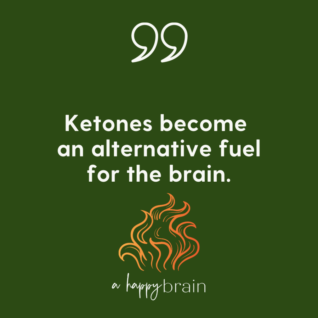 Graphic--Ketones provide an alternative fuel for the brain.