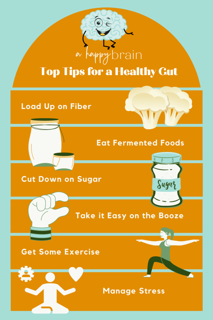 Infographic-Tips for a healthy gut.